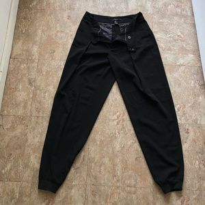 FOREVER 21 Black Button-Up Joggers
